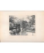 On The Upper Wissahickon Philadelphia PA 1896 Photograph Photogravure Print - $24.95