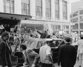 President Gerald Ford waves from limousine outside 1976 convention Photo... - $6.16+