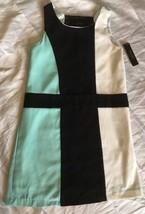 Laundry By Shelli Segal Retro Dress M Int Black & White Sz 12 $76 Cute! - $35.00