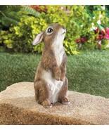 STANDING BUNNY Garden Statue Indoor Outdoor Decor Rabbit Figurine - $17.97