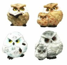 Wise Academic Forest Snowy Owls & Chicks Figurine Set Small Collectibles - $22.99