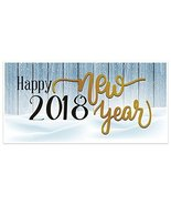 Happy New Year Wood Snow Banner Party Backdrop Decoration - $22.28