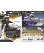HALO Game Assault Rifle Metal Earth 3-D Laser Cut Steel Model Kit NEW SE... - $9.70