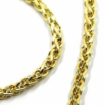 9K YELLOW GOLD BRACELET SPIGA EAR ROPE LINKS 2.5 MM THICKNESS, 7.5 INCHES, 19 CM image 2