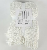 """Ikea DYSTERMAL Throw Blanket Soft Fuzzy Textured Off-White 51"""" x 67"""" - $61.06"""