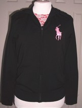 RALPH LAUREN BLACK LABEL WOMEN'S BIG PONY HOODIE JACKET MERINO BLEND SIZ... - $89.99