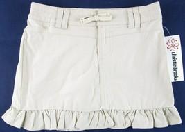 NWT Christie Brooks Girl's Tan Khaki Ruffle Skirt Skort, 7 or 8 - £8.52 GBP