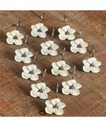 Set of 12 Dogwood Blossoms Shower Curtain Hooks - $14.97
