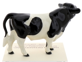 Hagen-Renaker Miniature Ceramic Cow Figurine Holstein Bull Cow and Calf Set image 13