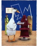 "Will Bullas ""The Dentist"" Duck with glasses in dental office.#51/950 Min... - $74.24"