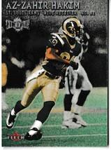 2000 Fleer Metal Az-Zahir Hakim Football Trading Card St. Louis Rams #170 - $1.97