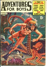 Adventures For Boys #1-Bailey-1st issue-Octopus attack-Jack Webb-Jesse J... - $81.97