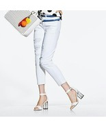 Avon Mark Nature of the Bleach Trendy Torn Look Jeans ~White ~MSRP $42 - $19.99
