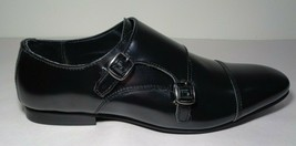 WALK London Size 11 LUCA Black Smooth Leather New Men's Cap Toe Monk Dre... - $117.81