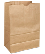 NEW AJM  Natural Kraft Grocery Bag 500 Bags Natural 25lb - $37.90