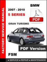 Bmw 5 Series 535i 535xi 535i Gt Gran Turismo Wagon 2007 - 2010 Workshop Manual - $14.95