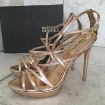 Badgley Mischka Adonis II Rose Women's Evening Platform Heels Sandals Si... - $242.55