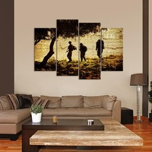 Framed 4 Piece Troops in Afghanistan Picture Poster Canvas Wall Art Home... - $78.95+