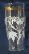 Vintage Elegant Gold Trim Tumbler Glasses * Set of 6 *  Daisy Pattern - $27.00