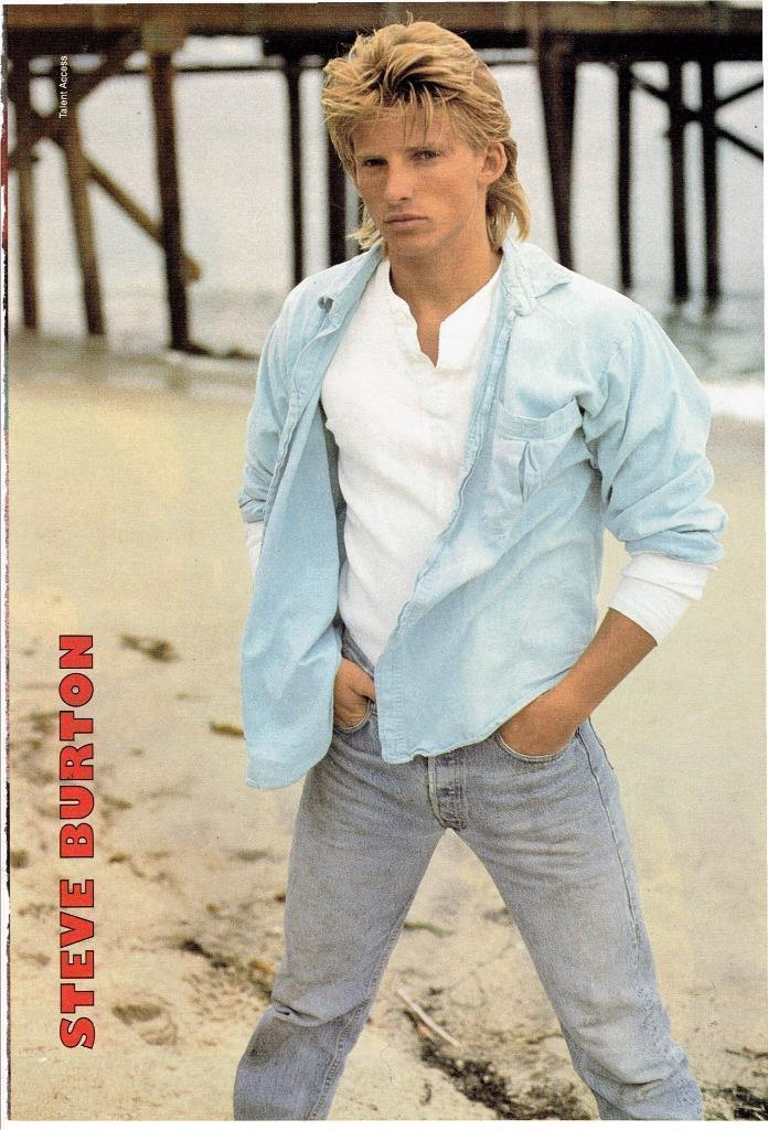 Steve Burton teen magazine pinup clippings Bop Tiger Beat Hot on the Beach