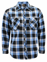 Men's Premium Cotton Button Up Long Sleeve Plaid Comfortable Flannel Shirt image 14