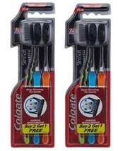 Colgate Slim Soft Charcoal Toothbrush Deep Cleaning pack of 3 - $7.89