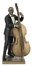 Double Bass Player Statue Sculpture Figurine - Jazz Band Collection - $76.75