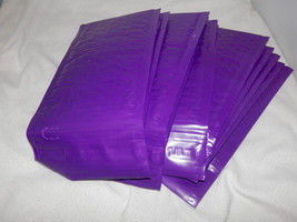 50 New Purple 4x8 Bubble Mailers, High Quality Padded Shipping Mailing E... - $13.25