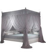 4 Corners Post Canopy Bed Curtain for Girls & Adults- 4 Openings Bed Can... - $80.07+
