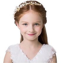 Elezay Princess Wedding Headpiece Crystal Headband Adjustable Ribbon Floral Crow image 1