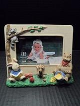 Burnes Picture Frame Resin Handpainted 3 x 5 Children Kids Baby 3D Animals  - $13.92