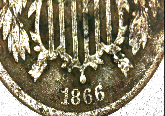 1866 Large Two-Cent Piece AA20-CNP2142 Antique