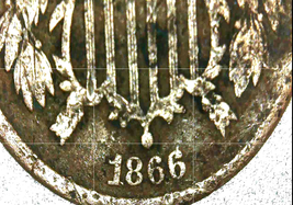 1866 Large Two-Cent Piece AA20-CNP2142 Antique image 1