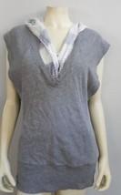 Free People gray Vest tie dye hoodie - $8.99