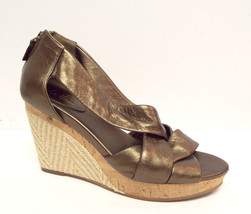 COLE HAAN Size 7.5 Bronze DELFINA Espadrille Wedges Sandals Shoes w/ N. Air - $49.50