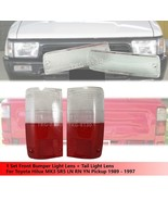 Front Bumper Light Lens + Tail Light Red Clear Lens For Toyota Hilux MK3... - $29.85