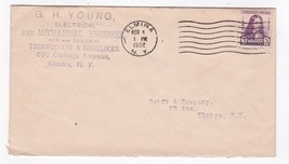 G.H. Young Electrical And Mechanical Engineer Elmira, Ny Nov 1 1932 - $1.98