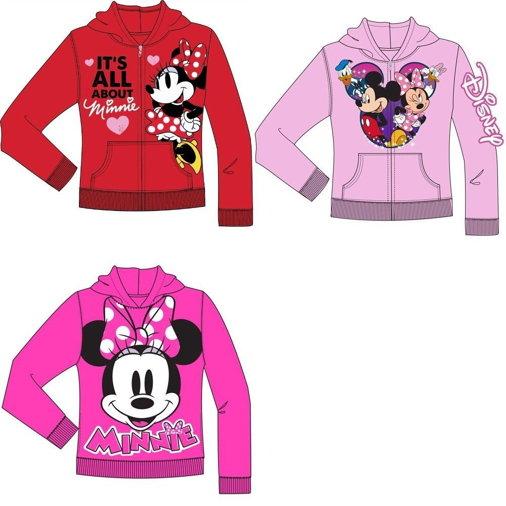 Clothing, Shoes & Accessories Girls' Clothing (newborn-5t) Disney Girls Sz Xsmall Minnie Mouse Pink Long Sleeve Hooded Zip Jacket Special Buy