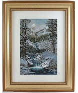 Sketch of Winter by Barron Postmus Giclee Print 9x6 Image Gold Frame - $31.46
