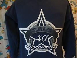 Vintage Dallas Cowboys 90's 1999 40th Anniversary Puma Sweatshirt Sz M - $24.74
