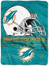 "NFL Dolphins Prestige Plush 60"" x 80"" Throw Blanket - $46.53"