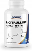 Nutricost L-Citrulline 750mg, 180 Capsules - 1500mg Per Serv, Gluten Free - $61.73