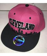 NEW Cleveland Hat Womens Adjustable Baseball Cap Snapback Skyline Pink a... - $9.79