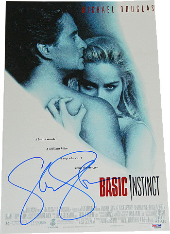 Primary image for Sharon Stone signed Basic Instinct 11x17 Movie Poster- PSA Hologram (entertainme