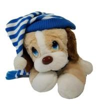 Vintage Commonwealth of Pennsylvania Plush Tan Puppy Dog Blue White Hat ... - $12.60