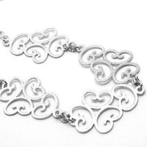 SILVER 925 NECKLACE, SATIN, PATTERN FLORAL BY MARY JANE IELPO, MADE IN ITALY image 3