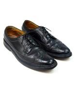 Vtg Florsheim Imperial Black Leather Wingtip Oxford Dress Shoes Mens 10 ... - $19.79