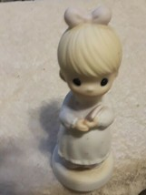 "Precious moments figurines 1989 The Good Lord Always Delivers fine cond. 5.75""  - $8.17"
