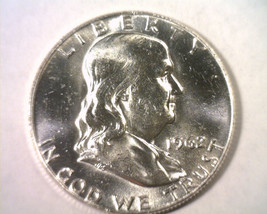 1962-D FRANKLIN HALF DOLLAR CHOICE UNCIRCULATED+ CH. UNC.+ NICE ORIGINAL... - $22.00