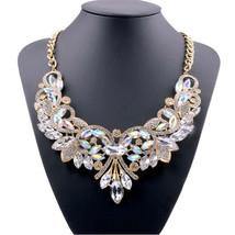 Hot Fashion Necklaces & Pendants Multi-color Crystal Bib Statement Neckl... - $202,05 MXN